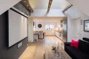 modern 1 bedroom apartments elegant small one bedroom modern attic apartment with exposed wood beams idesignarch