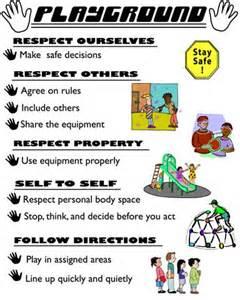 Elementary school playground rules little bennett es pbis