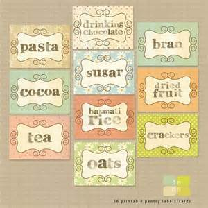 pantry kitchen stickers labels print your by