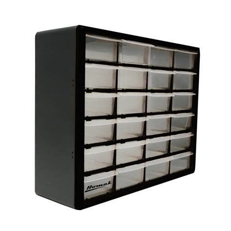 Black Plastic Drawers Shop Homak 19 75 In X 15 625 In 24 Black Plastic Drawer At