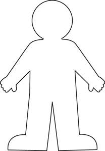 boy template best photos of boy and outline template