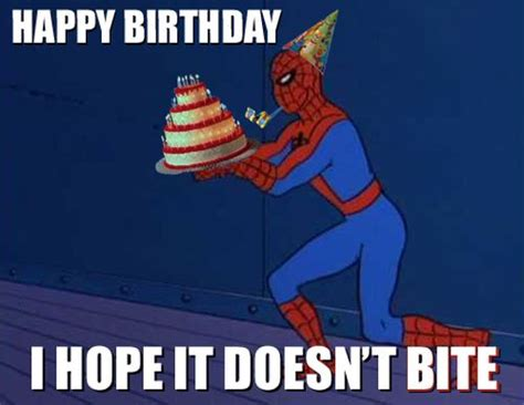Spiderman Birthday Meme - gay happy birthday meme for friends with wishes