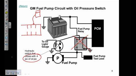 fuel pump electrical circuits description  operation youtube