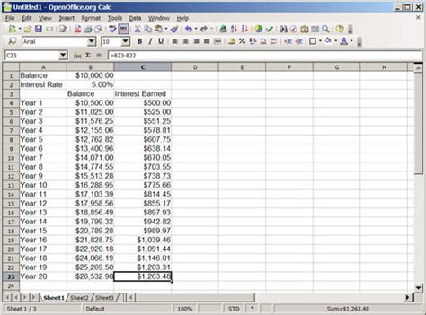 An Introduction To Compound Interest With Spreadsheets Part 1 Getting Started And Defining Daily Compound Interest Calculator Excel Template