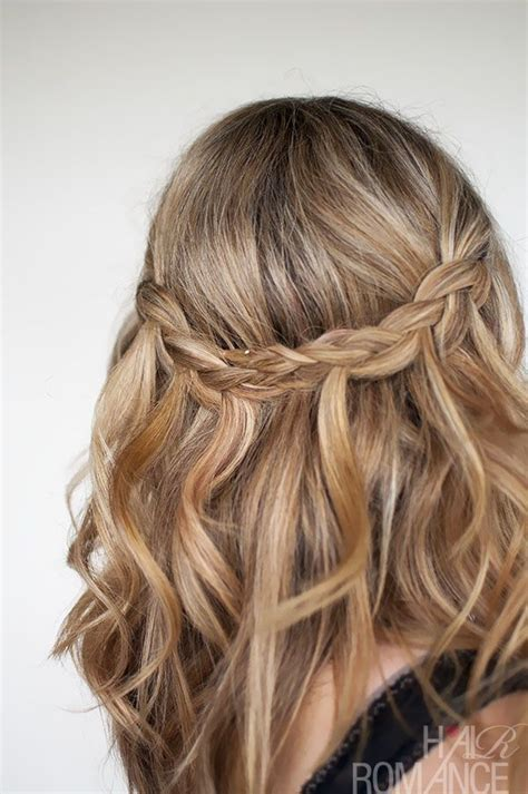 plaiting hair to grow it best 25 waterfall plait ideas on pinterest how to braid