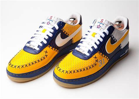 reggie miller basketball shoes nike air 1 bespoke quot reggie miller quot by layupshot