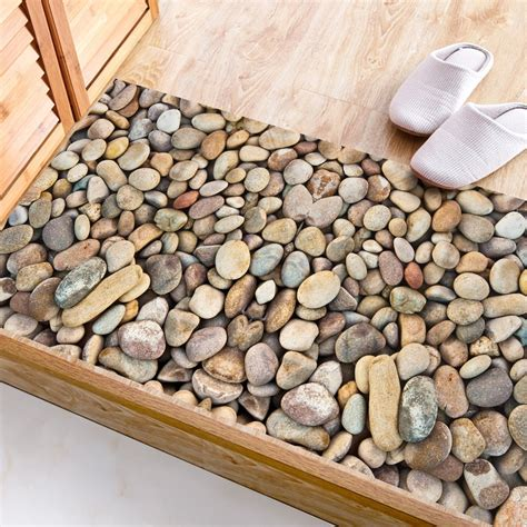 Creative River Stone Wall Sticker 3d Cobble Waterproof