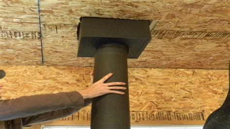 stove pipe through ceiling chimney pipe installation for wood stove through a flat