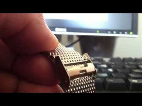 Adjusting clasp on metal mesh watch band   YouTube