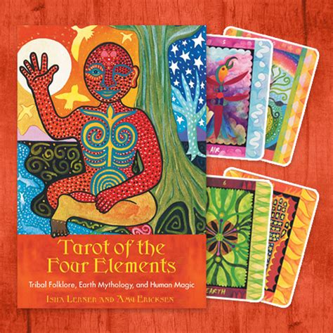 tarot on earth books tarot of the four elements book and deck set isha lerner