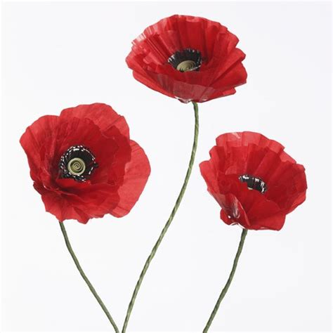 Make Paper Poppies - tutorial paper poppy
