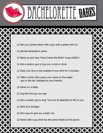 printable bachelorette to do list printable bachelorette dares game