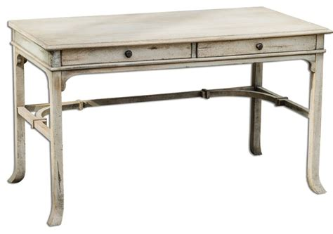 distressed wood bridgely mango wood writing desk