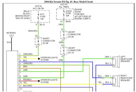 i m trying to get the stereo wire diagram for my 2004 kia
