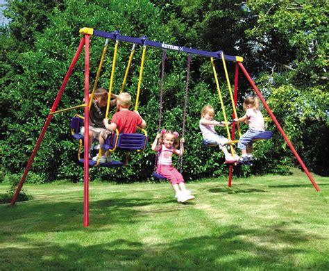 toddler swing set swingset with gondola swing and glider swing kettler