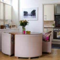 Compact Dining Tables Compact Dining Table And Colourful Apartment Housetohome Co Uk