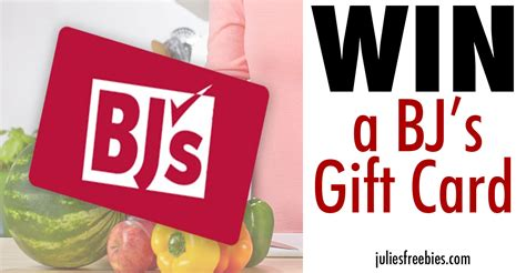 Bj S Wholesale Gift Card - win a 50 bj s wholesale club gift card julie s freebies