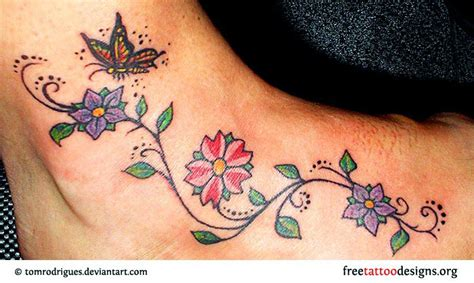 Foot Tattoos Free Butterfly Tattoos On Foot Designs And Ideas