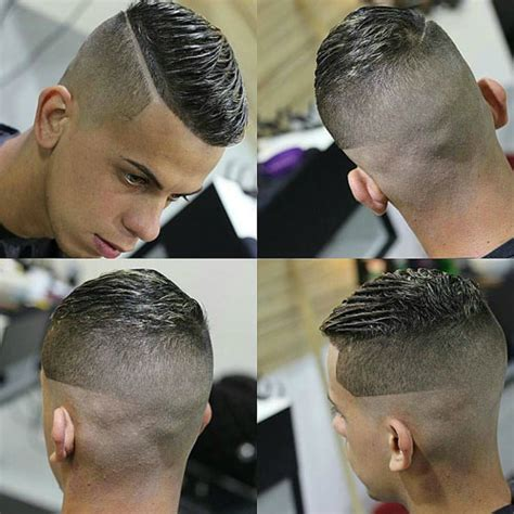 very short hair ut with side part very short hairstyles for men