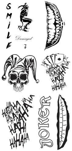 jared leto joker tattoo tutorial digital download file jared leto s joker inspired