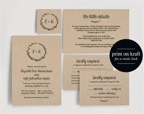 Wedding Invitation Design Pdf by Wedding Invitation Printable Rustic Wedding Invitation