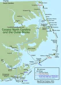 carolina outer banks map map of outer banks nc carolina south carolina