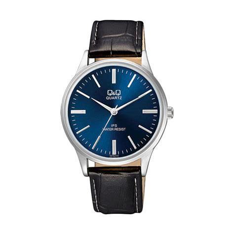 jual q q c214j312y casual jam tangan pria black blue