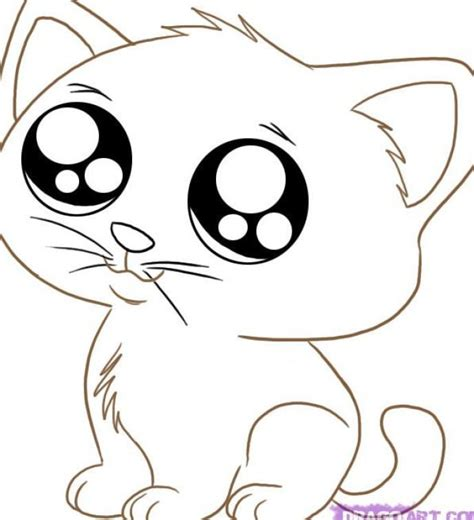 kawaii cat coloring pages cute animals coloring pages cat az coloring pages