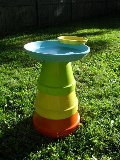 diy bird bath diy outdoor ideas pinterest