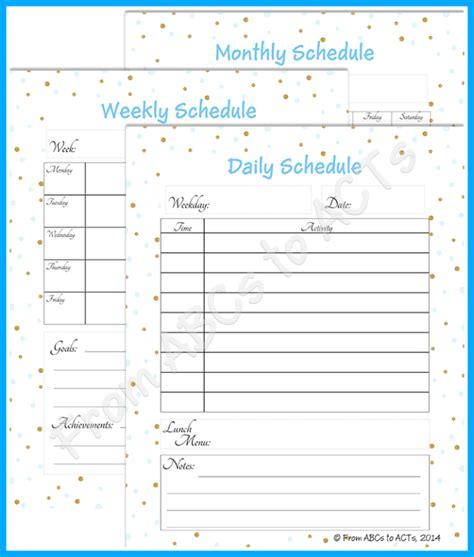 homeschool planner abcs acts