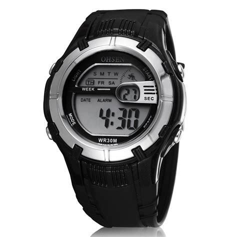 ohsen waterproof digital sport ad0922 black