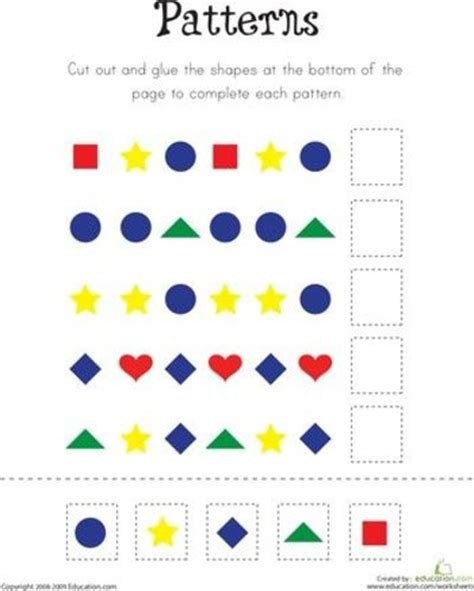pattern for kindergarten repeating patterns worksheets for kindergarten 1000