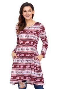 us 7 92 geometric snowflake burgundy long sleeve