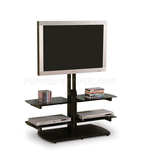 modern tv stand with tinted glass shelves