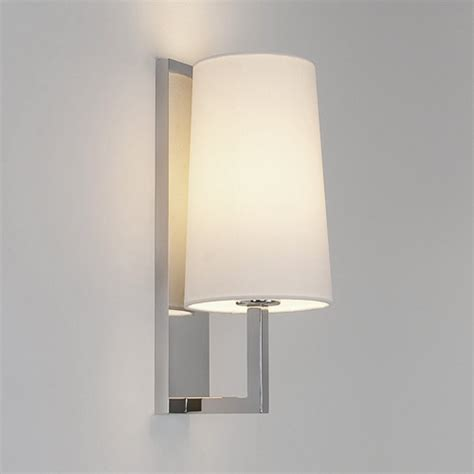 Wall Bathroom Lights Modern Ip44 Hotel Style Bathroom Wall Light With Opal Glass Shade