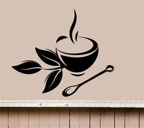 retro kitchen wall stickers coffee tea cup kitchen retro wall sticker vinyl decal