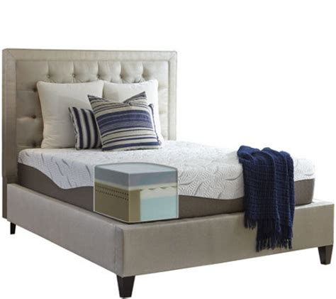 energize 14 quot firm gel memory foam queen mattress qvc com
