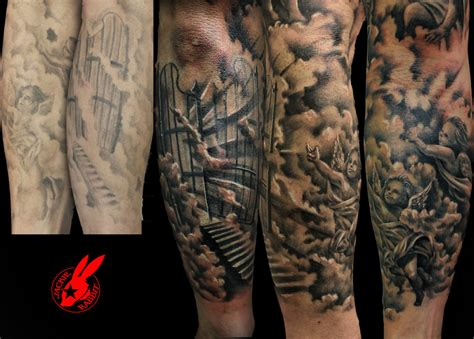 heaven sleeve cover up tattoos real photo pictures