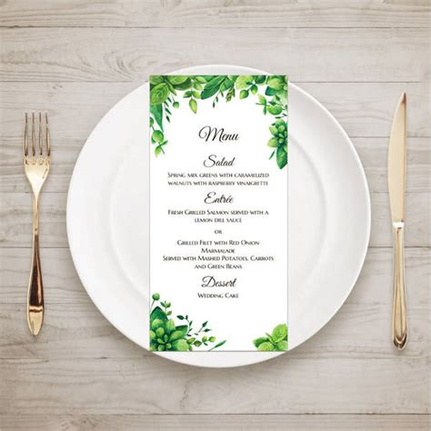 Summer Garden Menu Ideas 9 Garden Menu Designs Templates Free Premium