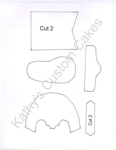 gumpaste baby cowboy boot template by kathy s custom cakes