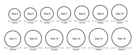 easy printable ring sizer sizing chart core silicone rings