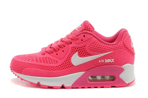nike air max 90 womens running shoes pink white