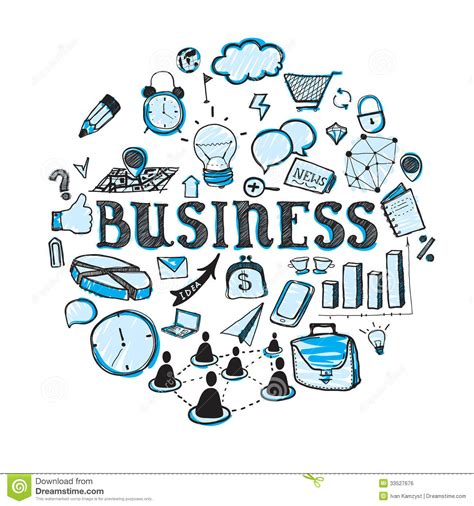 doodle business free business doodles royalty free stock image image 33527676