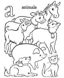 coloring pages animals free printable farm animal coloring pages for