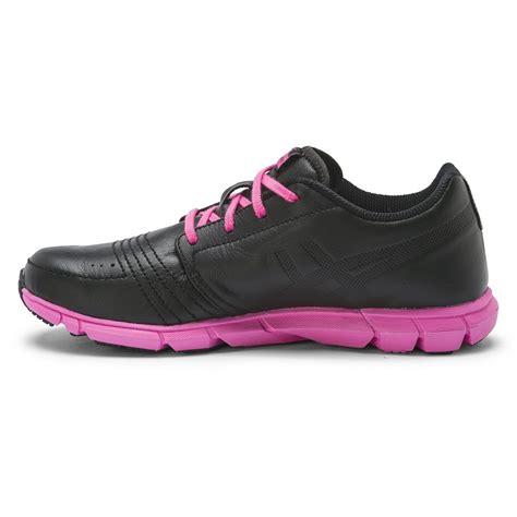 asics gel argolite womens walking shoes black neon