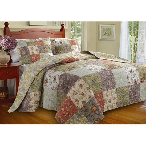 king size bed spread blooming prairie king size 3 piece bedspread set