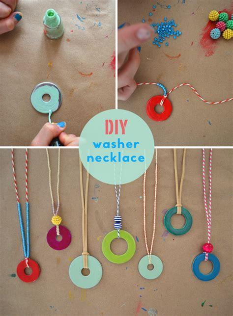 Handmade Easy Crafts - diy washer necklaces kid s summer craft handmade