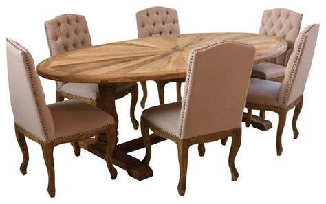 elm wood oval dining table rustic dining