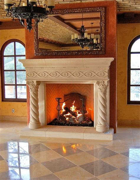 gas logs mediterranean fireplace accessories los