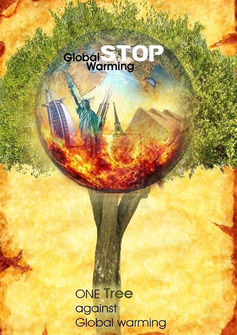 best chagne stop global warming poster photoshop by minaluiz on